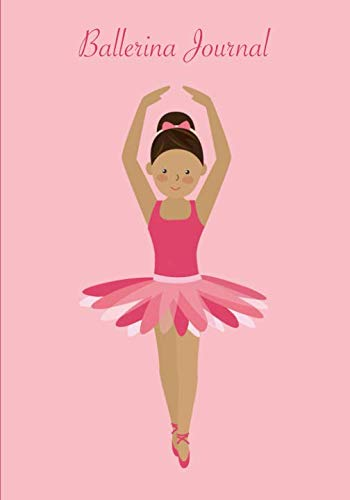 Ballerina Journal: A pretty pink draw and write notebook for your favorite little dancer