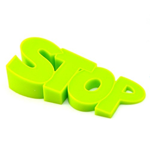 UCEC Cute Door Stopper Silicone Home Decorative Creative Wedge Doorstopper for Home, SCHOOL, OFFICE Non-Slipper (Green)