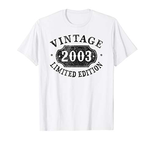 16 years old 16th B-day Birthday Gift 2003 Limited T-Shirt -