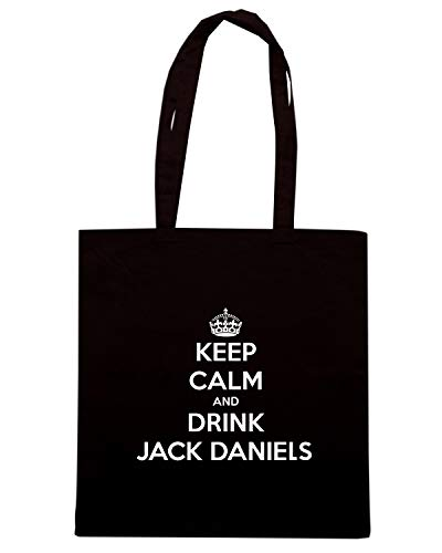 Nera DRINK DANIELS Shopper JACK Borsa TKC2568 KEEP CALM AND 54zUqwf