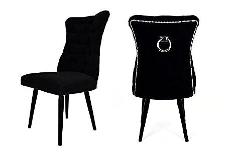 Belle Fierté Un par de sillas de Comedor con Tachuelas de ...