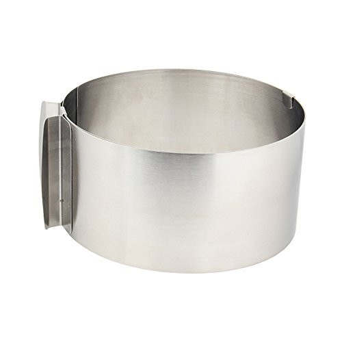 Agile-shop Stainless Steel 6 to10 Inch Adjustable Size Mousse Ring expandable cake ring Baking tool