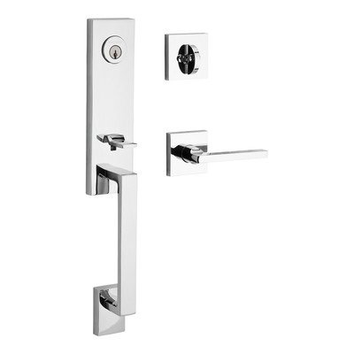 Satin Chrome Entrance Handlesets - 5
