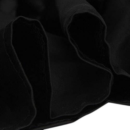 Manica In Spalline Donna Camicetta Schwarz Slim Tromba Fit Maniche Senza Schienale Shirts Alto Cintura Primaverile Inclusa Grazioso Parola Di Camicia Camicetta Camicette Lunga Elegante Elasticità Spalla Senza I8Cffqw