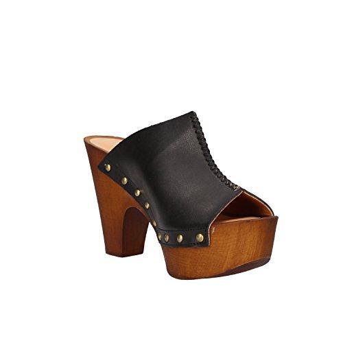 OLGA RUBINI - Sandalias de vestir de Piel para mujer negro