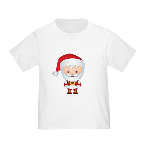 - Truly Teague Toddler T-Shirt Christmas Cuties Santa Claus - White, 4T