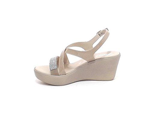 Susimoda - Sandalias de vestir para mujer beige beige