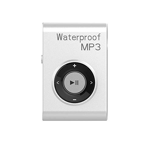 Waterproof MP3 Player Built-in 8GB Swimming Diving Sports with Waterproof Headphones Players Support FM Radio and Shuffle Feature Perfect Swimming Companion (White)