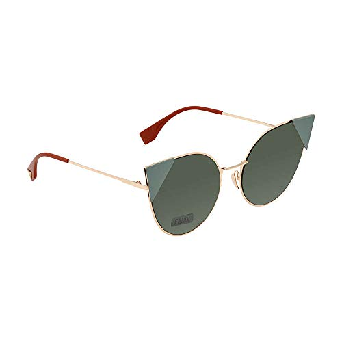 Fendi FF0190S DDB Gold Copper FF0190S Cats Eyes Sunglasses Lens Category 3 Size (Sonnenbrille Online Shop)