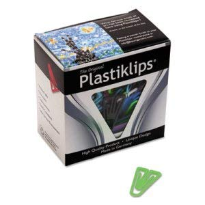 (Baumgartens Plastiklips Paper Clips, Medium, Assorted Colors - 500/Box (3 Boxes))