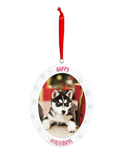 Dog Holiday Ornaments - Kate & Milo Holiday Pet Keepsake Photo Ornament, Dog Owner, Red