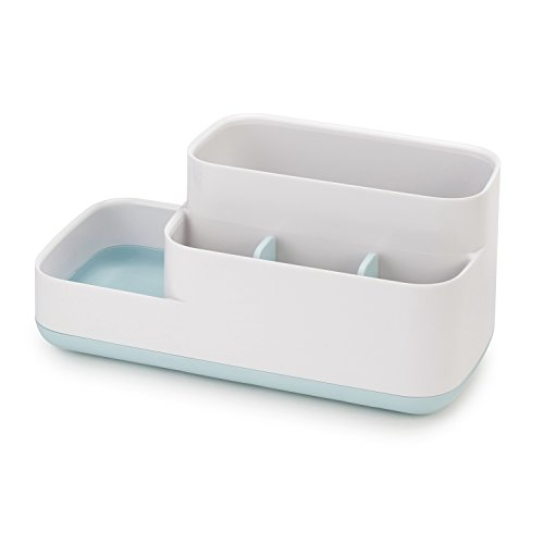Joseph Joseph 70504 EasyStore Bathroom Storage Organizer Caddy Countertop, - Toothbrush Holder In Drawer