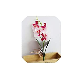 Fashion-LN Orchid Artificial Flowers Potted Plant Fake Silk Flowers Phalaenopsis Home Table Office Decor,e 53