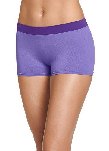 - Jockey Women's Underwear Modern Micro Seamfree Boyshort, Crystalline Purple, 8