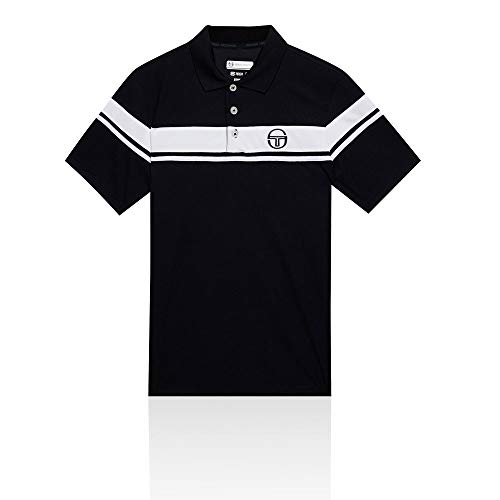 (Sergio Tacchini Young Line Pro Polo - SS19 - X Large - Navy Blue)