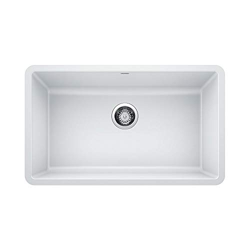 BLANCO 442533 PRECIS SILGRANIT Undermount Kitchen Sink, White (White Undermount Kitchen Sink 30)