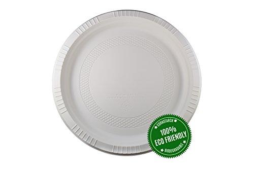 HeloGreen Eco-Friendly Biodegradable Cornstarch Disposable Microwavable Elegant Heavy Duty Plate  sc 1 st  Compostable Plates & HeloGreen Eco-Friendly Biodegradable Cornstarch Disposable ...