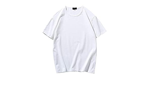 Camiseta de Color sólido para Hombre de Manga cortaMalla De Algodón De Praga Blanco XL: Amazon.es: Ropa y accesorios