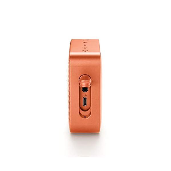 JBL Go 2 - Mini enceinte Bluetooth Portable - Étanche pour Piscine & Plage Ipx7 - Autonomie 5hrs - Qualité Audio JBL - Orange 4