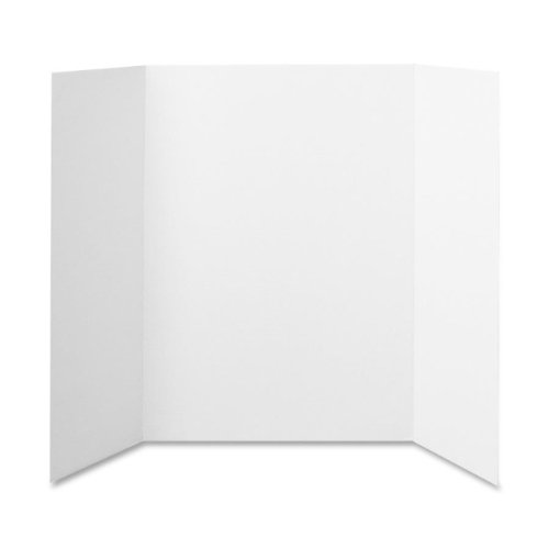 Elmers 730205 Project Board Display, Tri-Fold Board, 36 in.x48 in., White (Display Project Board)