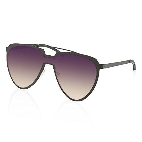 TWING Modern Fashion Flat Top Metal Aviator Aolor Lens Sunglasses AV-1548-OC - Sunglasses Men For Modern