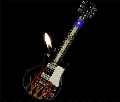 :Rock-n-Roll Light Show Guitar Lighter (Assorted) ()
