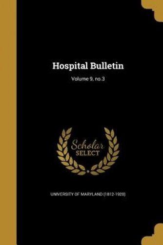 Download Hospital Bulletin; Volume 9, No.3 pdf