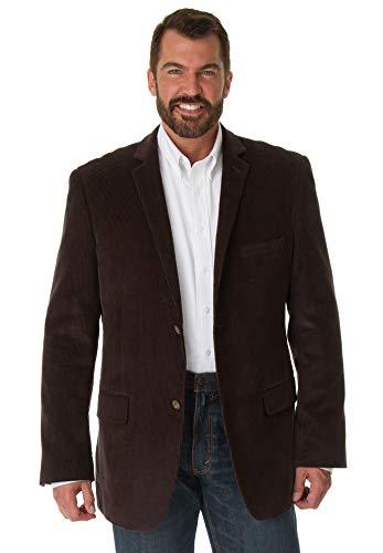KS Signature Men's Big & Tall Corduroy Blazer, Brown Tall-54
