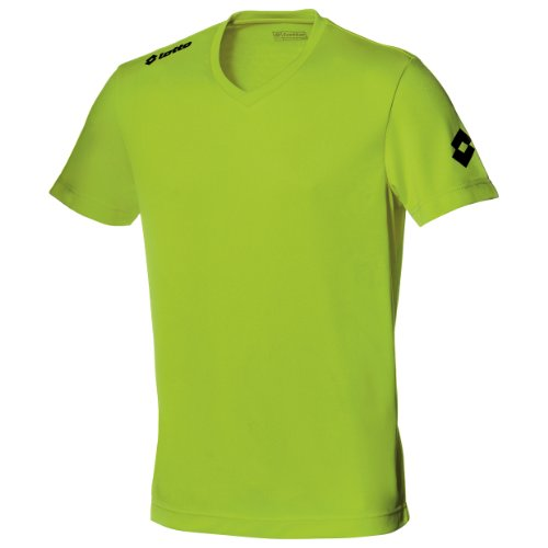 Lotto Football Jersey Team Evo Sports V Neck Shirt (XL) (Lemon)