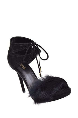 remi fur and suede sandal