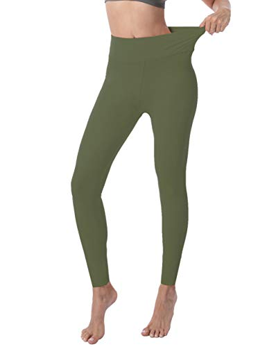 VALANDY High Waisted Leggings for Women Stretch Tummy Control Workout Running Yoga Pants Reg&Plus Size 4