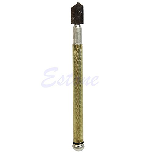 Show 1 Piece New Diamond Tipped Glass Cutter Metal Handle Steel Blade Oil Feed Cutting Tools price
