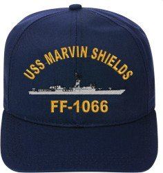 USS MARVIN SHIELDS FF-1066 EMBROIDERED SHIP CAP (Uss Shields Marvin)