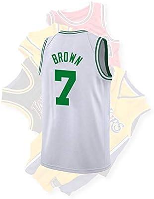 buy online 52d84 bbaba NBA Celts Jaylen Brown #7 Men's Basketball Jersey Heat ...