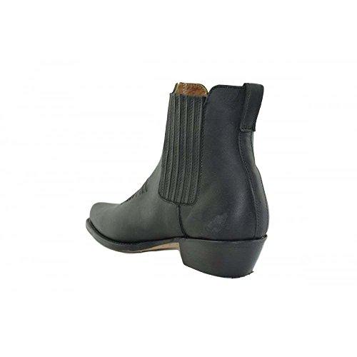 Boots schwarz 45 Westernstiefel und black LOBLAN Ankle Loblan Größe Biker Stiefeletten stiefe 298 Herren 298 Damen qIxO0wE