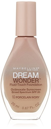 Maybelline New York Dream Wonder Fluid-Touch Foundation, Porcelain Ivory, 0.67 Fluid Ounce