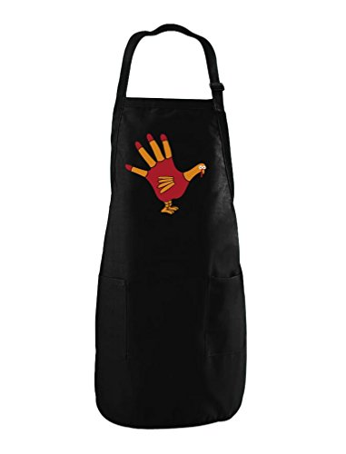 TeeStars - Turkey Hand - Funny Thanksgiving Cooking Chef Apron One Size Black