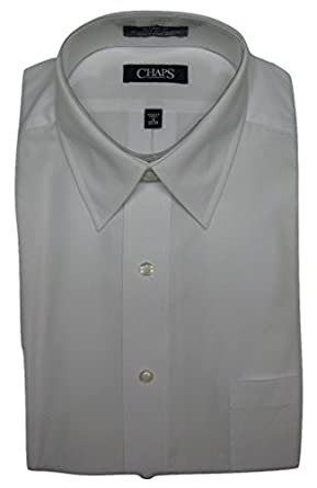 Chaps men 39 s classic fit long sleeve solid dress shirt for Chaps mens dress shirts