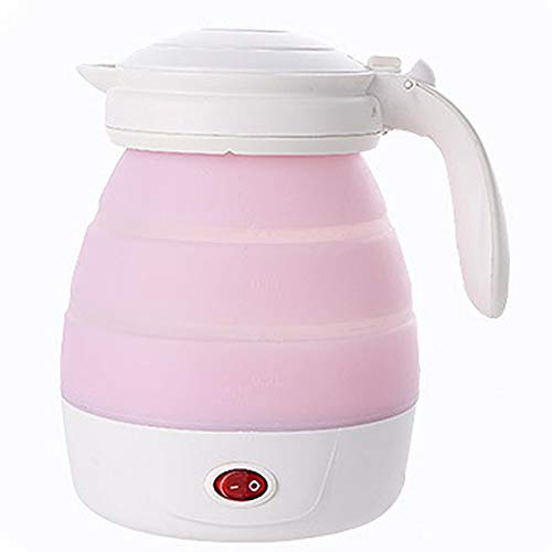 PLAIPH Electric Tea Kettle, Mini Folding Travel Electric Kettle, Insulation, Stainless Steel, Portable Household Electric Kettle (Best Electric Tea Kettle 2019)