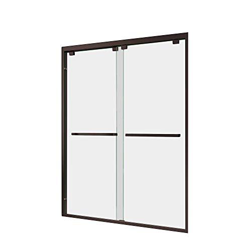 DreamLine Encore 44-48 in. W x 76 in. H Frameless Semi-Frameless Bypass Shower Door in Oil Rubbed Bronze, SHDR-1648760-06 - Frameless Bypass Bath Door