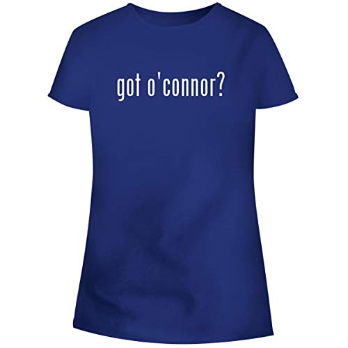 One Legging it Around got O'Connor? - Women's Soft Junior Cut Adult Tee T-Shirt, Blue, X-Large