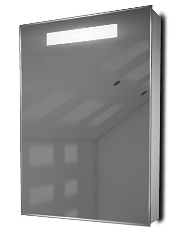 DIAMOND X COLLECTION Alannah LED Illuminated Bathroom Mirror Cabinet with Sensor & -