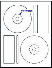 200 Label Outfitters Memorex Format CD - DVD Labels with Perforated Core Label
