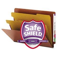End Tab Pressboard Classification Folder, Straight Cut, 2 Div, Letter, Brown SMD26860 Consumer Div Fusion