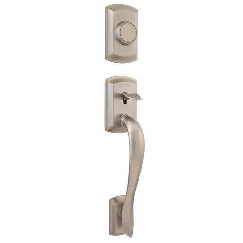 UPC 883351025836, Kwikset 802AVH LIP 15 Signature Series Avalon Dummy Handleset, Satin Nickel, Exterior Only