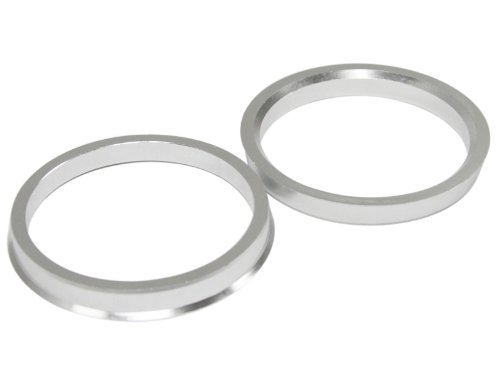 Hubcentric Rings (Pack of 4) - 67.1mm ID to 73.1mm OD - Silver Aluminum Hubrings - Only Fits 67.1mm Vehicle Hub & 73.1mm Wheel Centerbore - for many Mitsubishi Mazda Kia Hyundai by Precision European Motorwerks (Image #7)