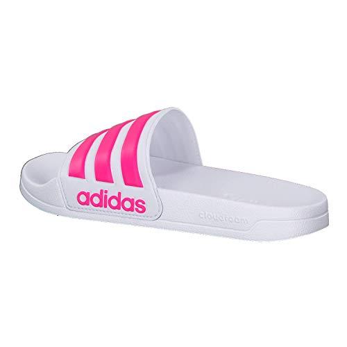 Adidas Adilette Slides Para Flash blanc Chanclas Blanc rose Niños Shower wBUwq6C4