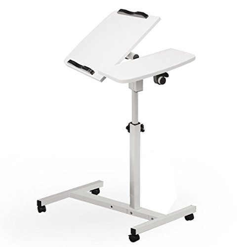 Clearance! Sinma Mobile Laptop Desk, Sit-Stand Portable Adjustable Angle Laptop Desk Durable & Ergonomic Design Computer Tables with Side Table (White) by Sinma