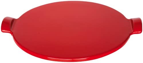 Emile Henry Made in France Flame Top Pizza Stone, Granite. Perfect for Pizzas or Breads. In the Oven, On Top of the BBQ. Safe up to 750 degrees F. 100 Natural Clay, Glazed Surface. Easy to Clean.