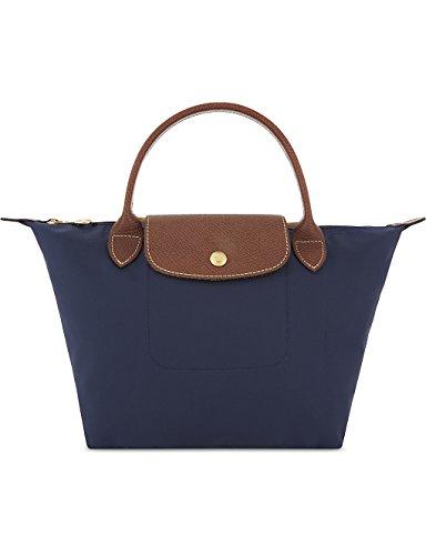 Longchamp Le Pliage - Bolso de mano (tamaño pequeño), color azul marino